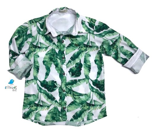 Camisa Dado -   Folhas