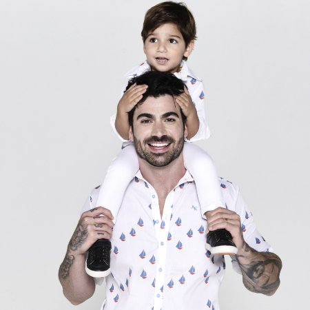 Kit camisa Theo - Tal pai, tal filho (duas peças) | Barcos