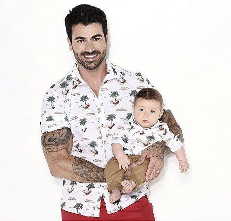 Kit camisa Frank - Tal pai, tal filho (duas peças) | Praia