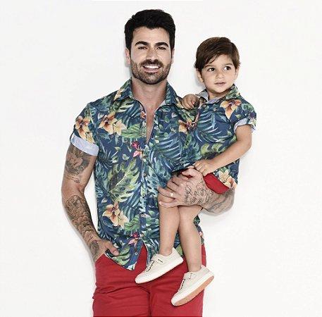 Kit camisa Henry - Tal pai, tal filho (duas peças) | Praia