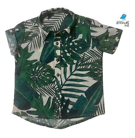 Camisa Luke - Estampa Safari       | Viscolinho