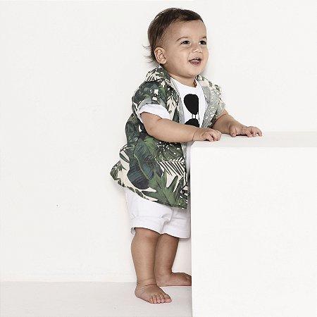 Camisa Luke - Estampa Safari         Viscolinho