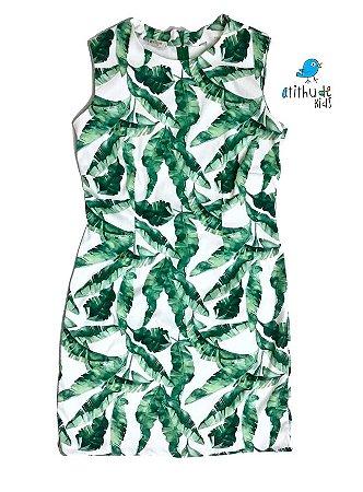 Vestido Duda - Verde| Adulto | Folhas  | Dado