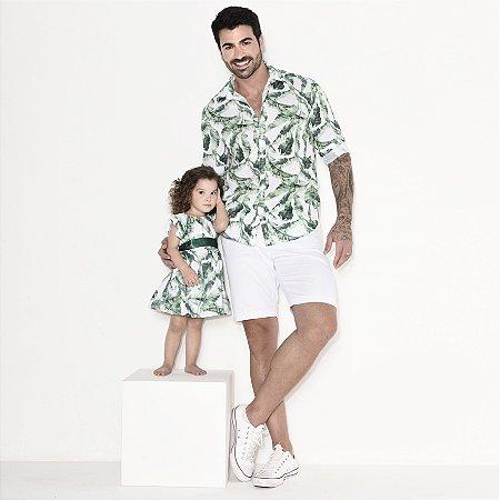 Kit camisa e vestido Dado - Tal pai, tal filha (duas peças)