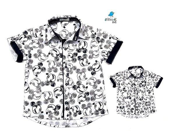 0b2a5fd96be6d8 Kit Camisa Mickey - Tal mãe, tal filho (duas peças) | Mickey