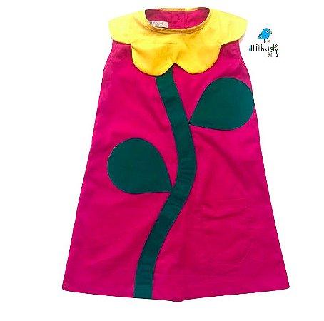 Vestido Flor - Rosa Pink
