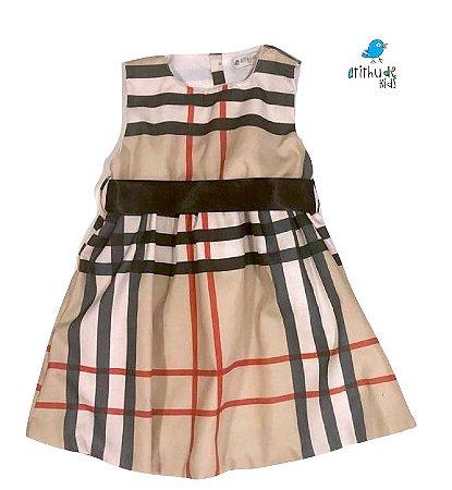 Vestido Rafaela - Bege Xadrez