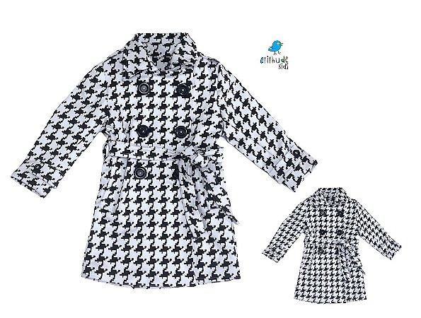 Kit Trench Coat Nina - Tal mãe, tal filha  (duas peças)