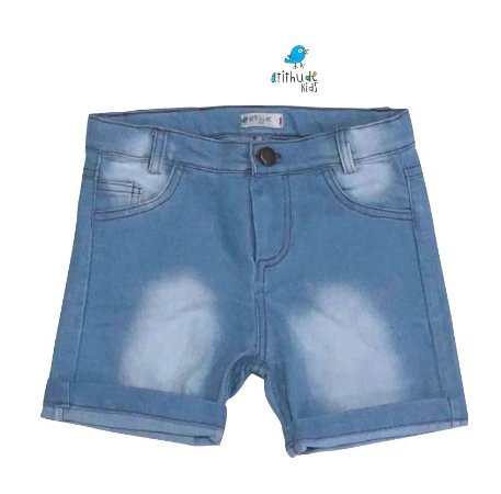 Bermuda João Pedro - Jeans Claro Tie Dye