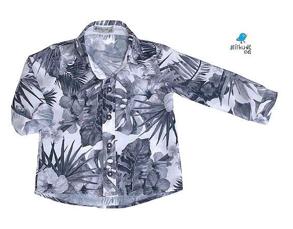 Camisa Giuseppe -   Folhas cinza | Safari | Surf