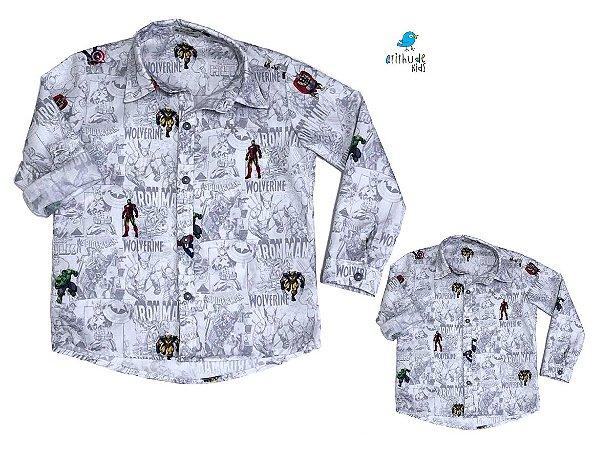 Kit camisa Nicky - Tal pai, tal filho (duas peças) |Avengers
