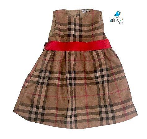 Vestido Rafaela  -  Xadrez Bege | Suede