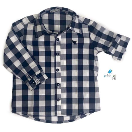Camisa Cadú - Xadrez Azul Marinho
