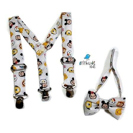 Kit suspensório + gravata borboleta - Disney Baby