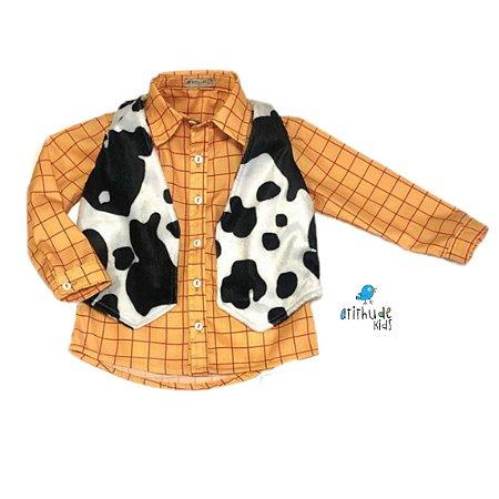 Conjunto Camisa e Colete Woody | Toy story |2 peças