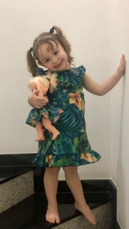 Vestido Zoe infantil | Tal menina, tal boneca | Duas Peças