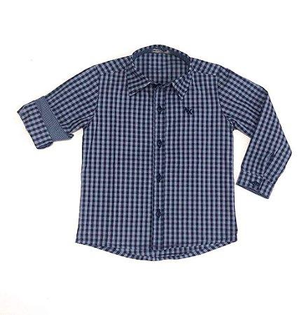 Camisa Cadú - Xadrez Azul  Fazendinha
