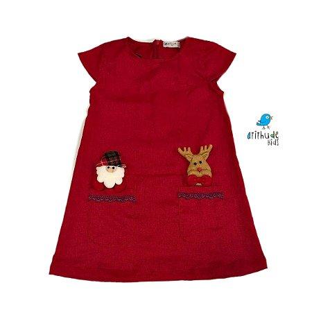 Vestido Manuela - Linho | Vermelho | Natal