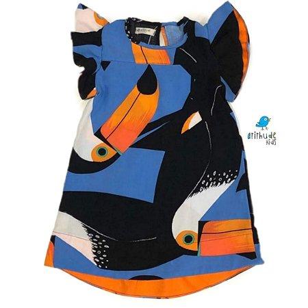 Vestido Tuca    Azul estampado Tucano