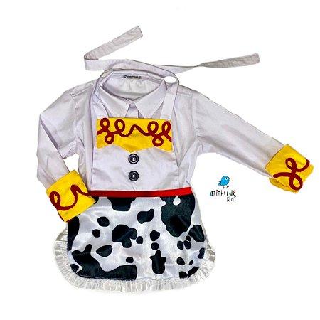 Kit Jessie   Camisa e Avental   Toy Story  2 peças