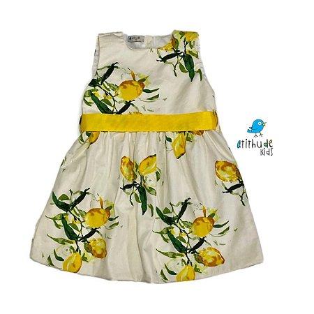 Vestido Antonella| Estampado limão aquarelado - Ícaro (1 peça)