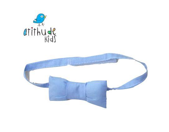 Gravata Borboleta - Azul Bebê
