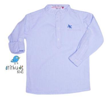 Camisa Sean - Azul Claro (Gola Padre)