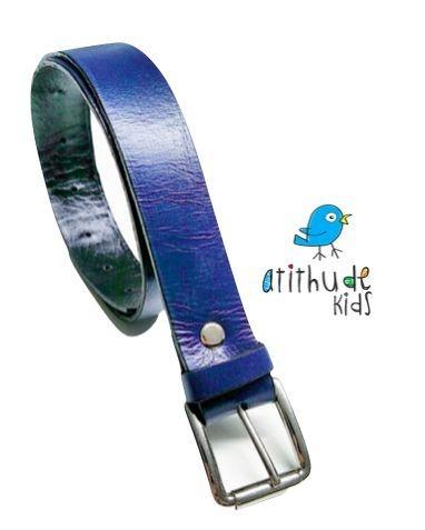 Cinto Azul - Couro