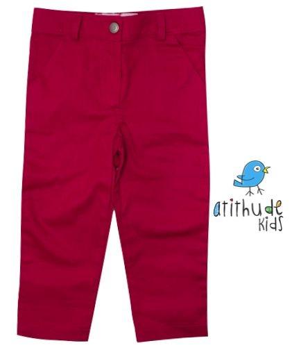 Calça Sarja - Vermelha