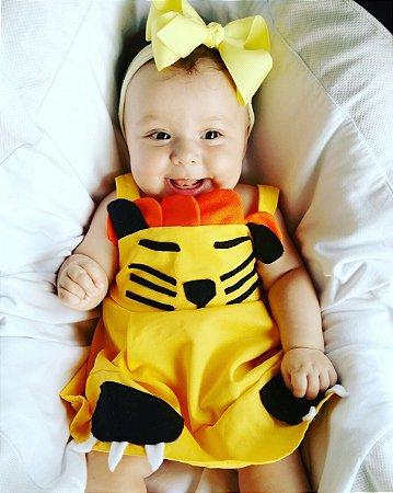 Vestido Leãozinho - Amarelo