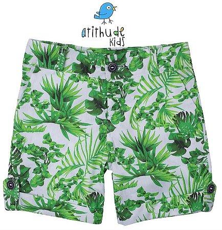 Bermuda Pedro Henrique - Floral verde