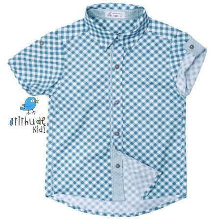 Camisa Oliver - Xadrez azul claro | Fazendinha