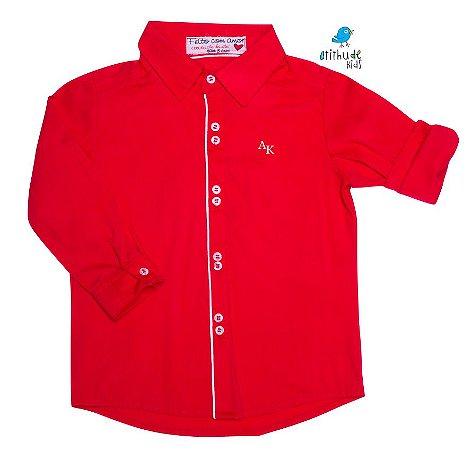 Camisa Danilo - Vermelha com detalhes em branco