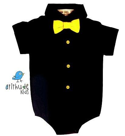 Camisa Logan - Preta (vem com a gravata) | Mickey