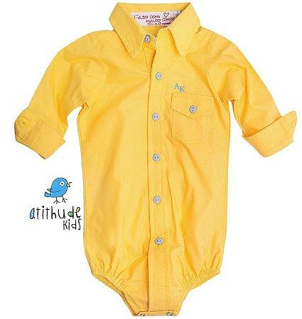 Camisa Lucas - Amarela  (com bolso)