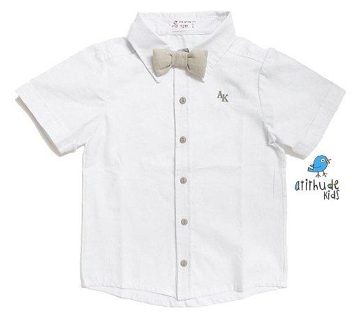 Camisa Renatinho - Branca com bege