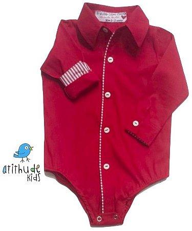 Camisa Daniel - Vermelha com listrado