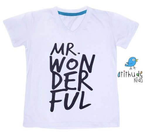 Camiseta Adulto Mr. Wonderful - Branca