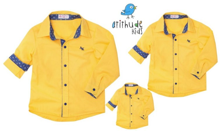 Kit camisa Bernardo - Família (três peças)