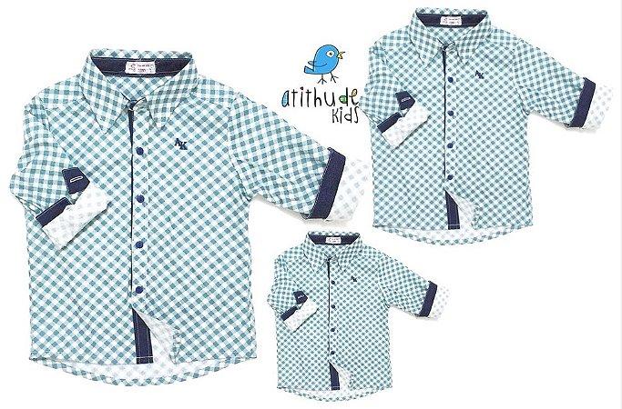 kit Camisa Luigi - Família (três peças) | Fazendinha | Manga Longa
