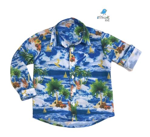 Camisa Max - Estampa Hawaii