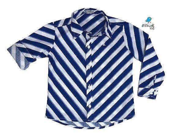 Camisa Dante - Listrada Azul