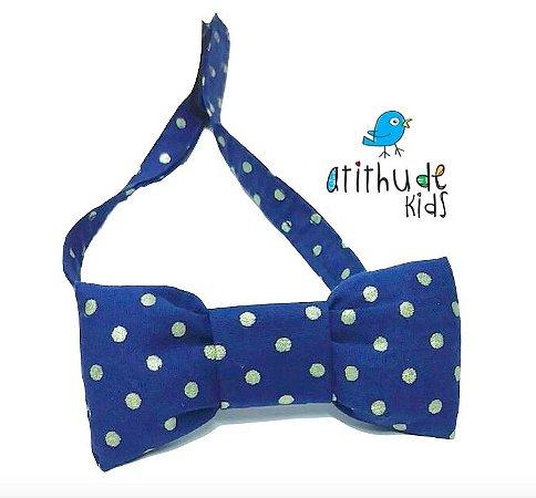 Gravata Borboleta - Poá Azul Marinho