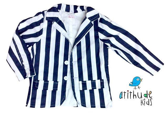 Blazer Agostinho - Listrado (Azul Marinho e Branco)