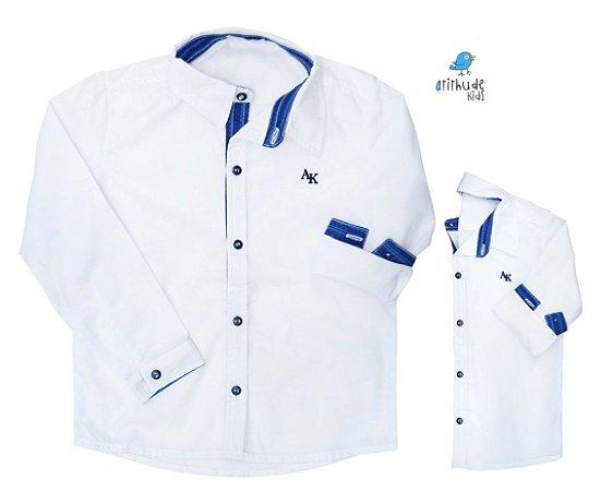 Kit camisa Alcides - Tal pai, tal filho (duas peças) | Azul