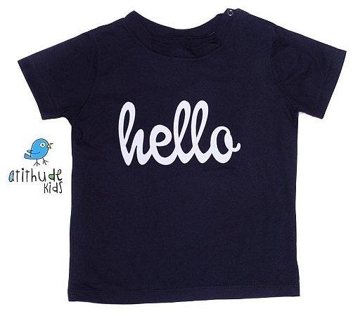 Camiseta Hello - Preta