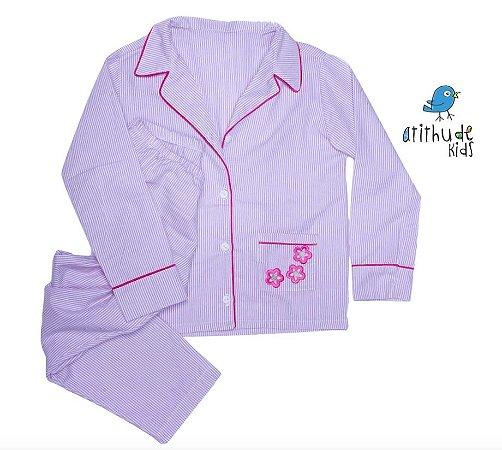 Pijama Paty  - Listrado Rosa