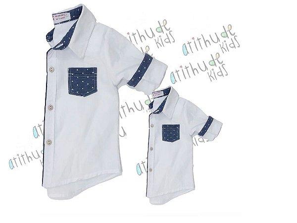 Kit camisa Guillermo - Tal pai, tal filho (duas peças)