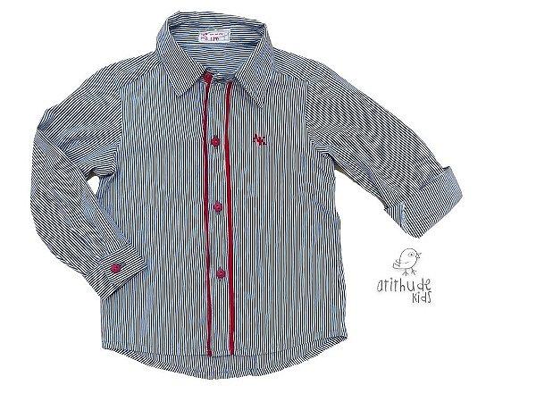 Camisa Peter - Cinza Listrada