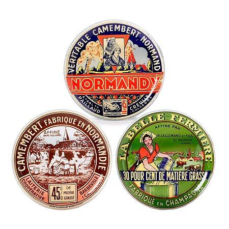 Conjunto De 3 Pratos Decorativos Para Frios, Queijo e Vinho Normandy